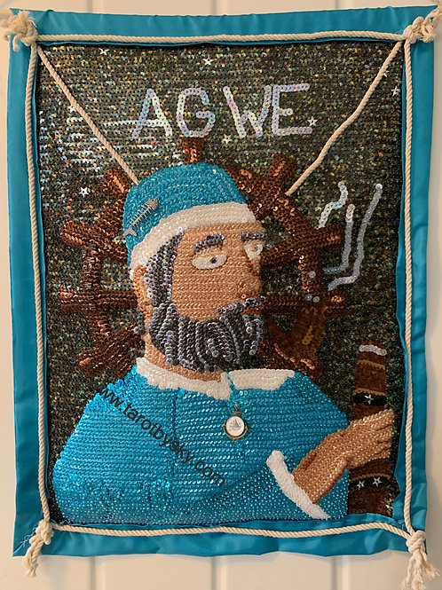 Agwe Sequin Art Flag