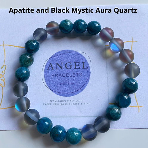 Apatite and Black Mystic Aura Quartz