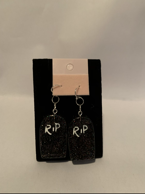 Halloween RIP Gravestone earrings