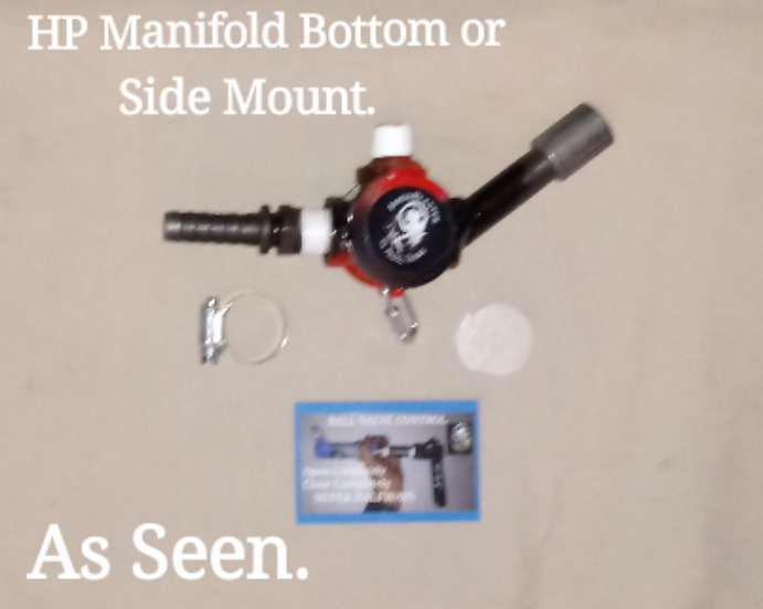 HP Manifold Bottom or side mount Ready.