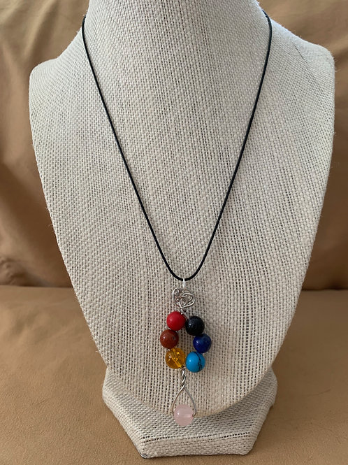 Wrapped Chakra Necklace