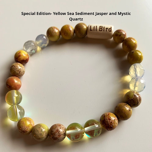 Special Edition- Yellow Sea Sediment Jasper and Mystic Quartz