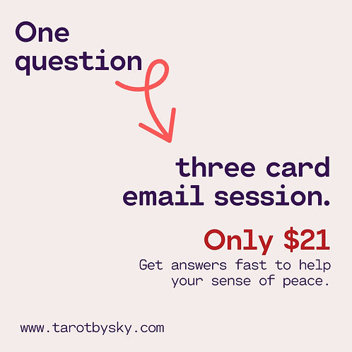 Three Card/One Question Email Reading