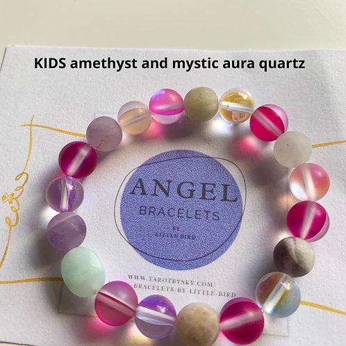 KIDS amethyst and mystic aura quartz