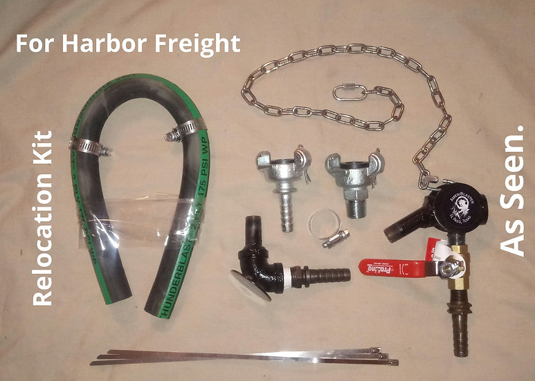 Harbor Freight Relocation Kit (Use your own blast hose)