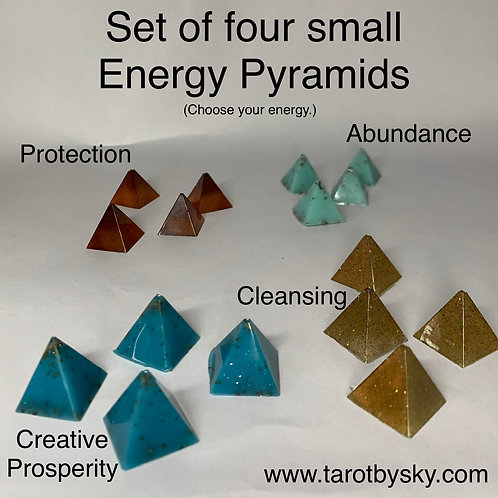 Set of Four Small Energy Pyramids