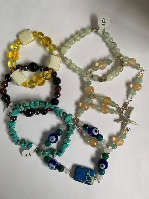 Gemstone Bead Bracelets