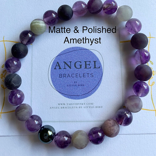 Matte and polished Amethyst
