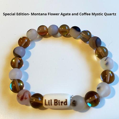 Special Edition- Montana Flower Agate and Coffee Mystic Quartz