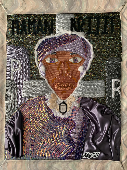 Manman Bridgette Sequin Art Flag