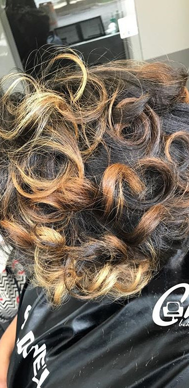 Blow out and style on Natural hair