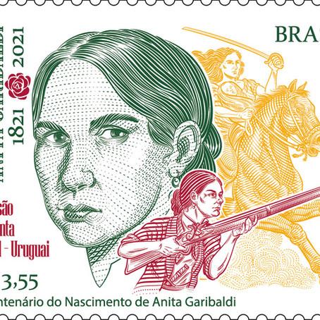 Lançamento | Emissão Conjunta Brasil - Uruguai Bicentenário do Nascimento de Anita Garibaldi