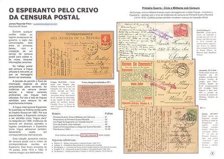 O Esperanto pelo Crivo da Censura Postal