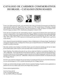 Catálogo de Carimbos Comemorativos do Brasil Zioni/Soares
