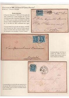 História Postal das Emissões 1881-1888 da Casa da Moeda do Brasil