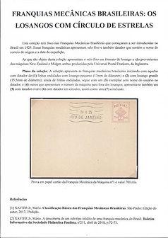 """Franquias Mecanicas Brasileiras """"Os Losangos com circulo de estrelas"""""""
