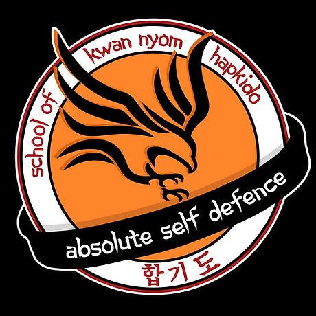 Absolute Self Defence Logo on Black back