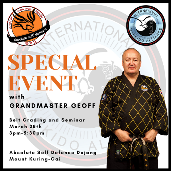 Grading and Seminar with Grandmaster Geoff Booth