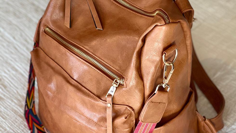 Convertible Messenger Strap Backpack Purse