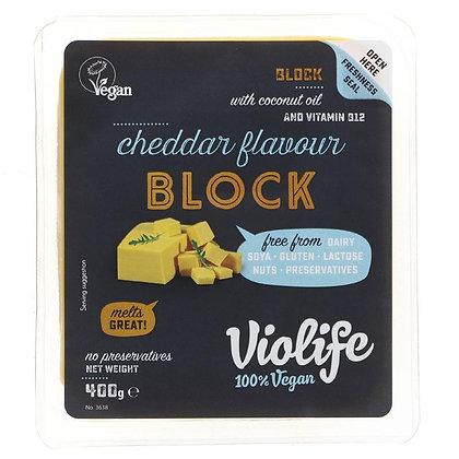 VIOLIFE CHEDDAR BLOCK (400g)
