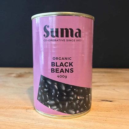 SUMA ORGANIC TINNED BLACK BEANS