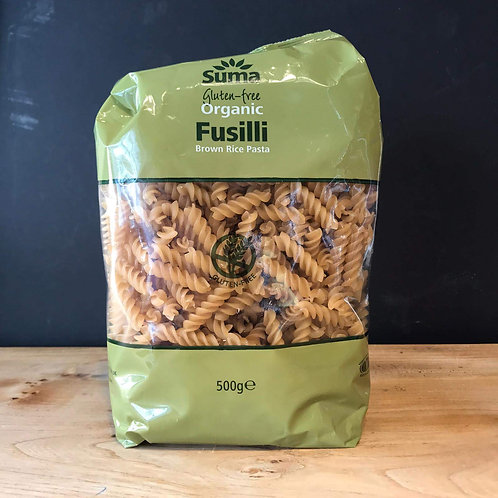 SUMA GLUTEN FREE BROWN RICE FUSILLI 500G