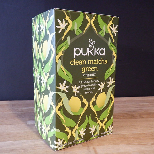 PUKKA - CLEAN MATCHA GREEN - 20 BAGS