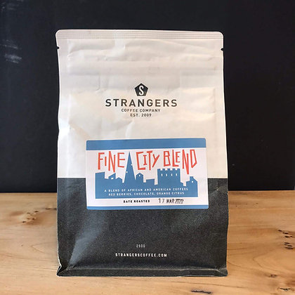 FINE CITY BLEND STRANGERS COFFEE - GROUND