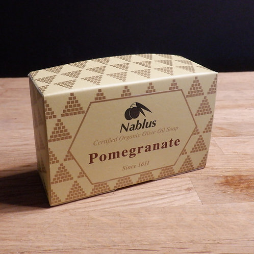 NABLUS OLIVE OIL SOAP -POMEGRANATE