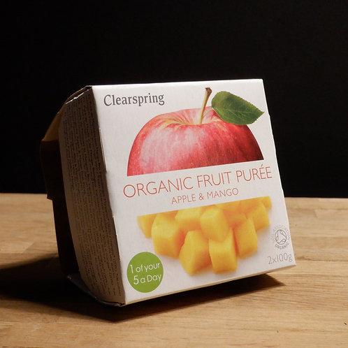 CLEARSPRINGS - ORGANIC FRUIT PUREE, APPLE & MANGO