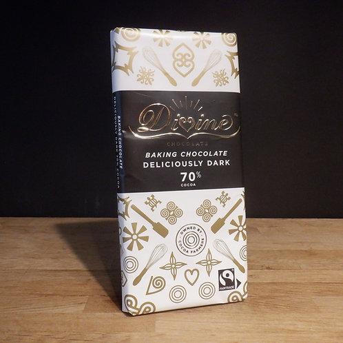 DIVINE - DARK BAKING CHOCOLATE 70% COCOA - 150G