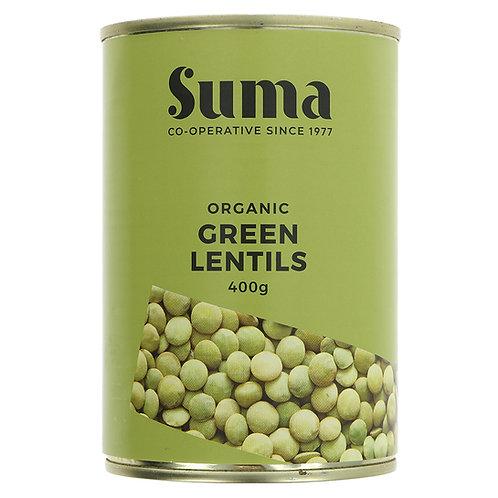 SUMA ORGANIC TINNED GREEN LENTILS