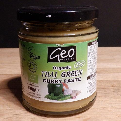 GEO ORGANIC - THAI GREEN CURRY PASTE 180G