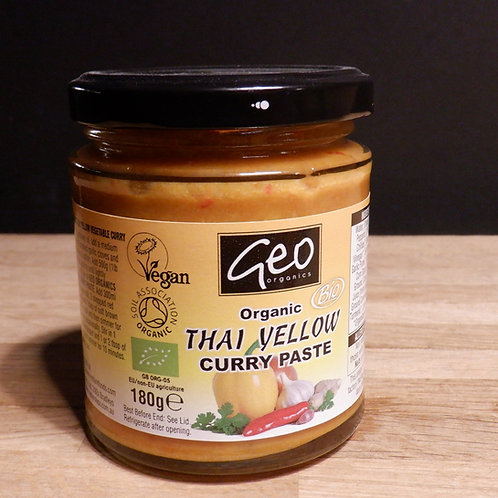 GEO ORGANIC - THAI YELLOW CURRY PASTE 180G
