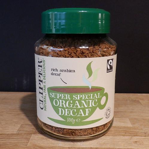 CLIPPER ORGANIC DECAF INSTANT COFFEE 100G