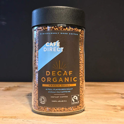 CAFE DIRECT DECAF ORGANIC INSTANT COFFEE