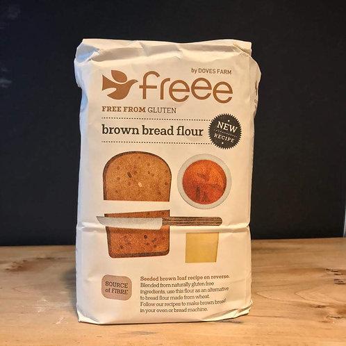 DOVES GLUTEN FREE FLOUR BROWN BREAD 1KG