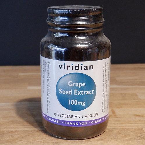 VIRIDIAN - GRAPE SEED EXTRACT - 100MG - 30 CAPS