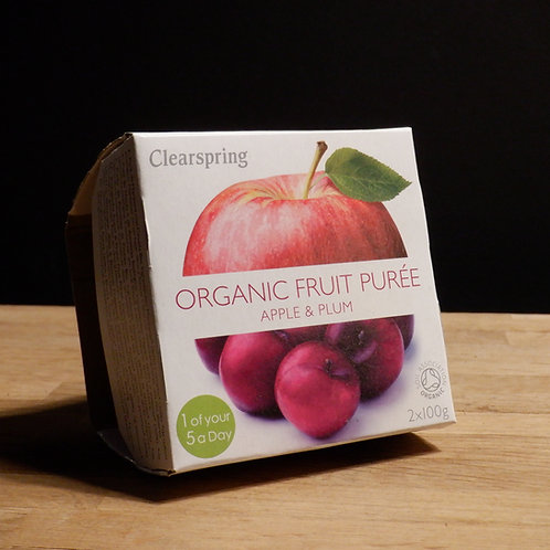 CLEARSPRINGS - ORGANIC FRUIT PUREE, APPLE & PLUM