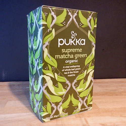 PUKKA - SUPREME MATCHA GREEN TEA - 20 BAGS