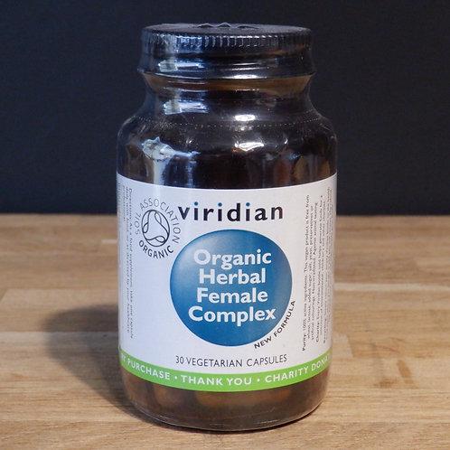 VIRIDIAN - ORGANIC HERBAL FEMALE COMPLEX - 30 CAPS