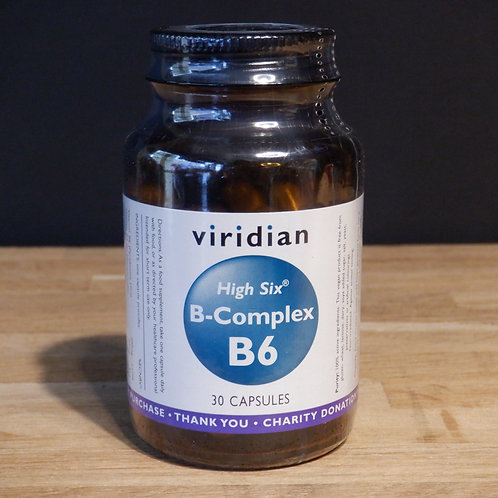 VIRIDIAN -  HIGH SIX B-COMPLEX B6 - 30 CAPS