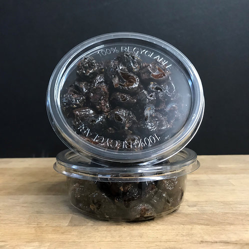 PITTED BLACK OLIVES ON HERBS DE PROVENCE
