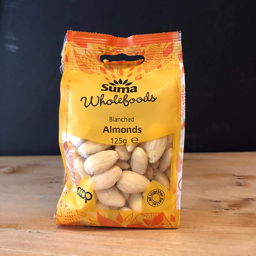 SUMA BLANCHED ALMONDS (125g)