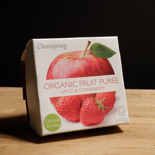 CLEARSPRINGS - ORGANIC FRUIT PUREE, APPLE & STRAWBERRY