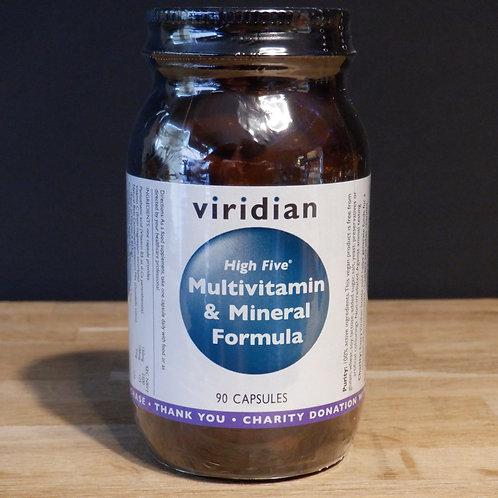VIRIDIAN - HIGH FIVE MULTIVITAMIN & MINERAL FORMULA - 90 CAPS