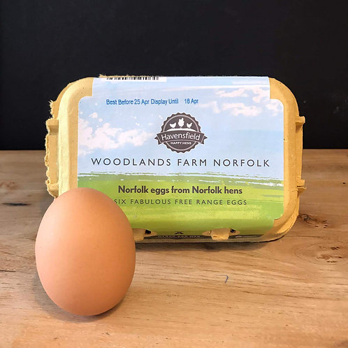 NORFOLK FREE RANGE EGGS (BOX OF 6)