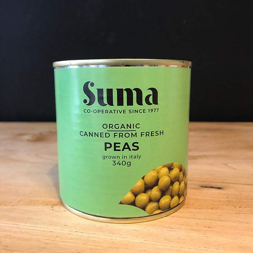 SUMA ORGANIC TINNED PEAS (340g)