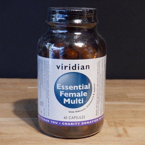 VIRIDIAN - ESSENTIAL FEMALE MULTI - 60 CAPS