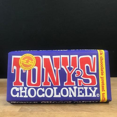 TONY'S CHOCOLONELY MILK CHOCOLATE PRETZEL TOFFEE